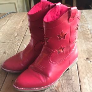 Gymboree Red Cowgirl Boots. Size 3.
